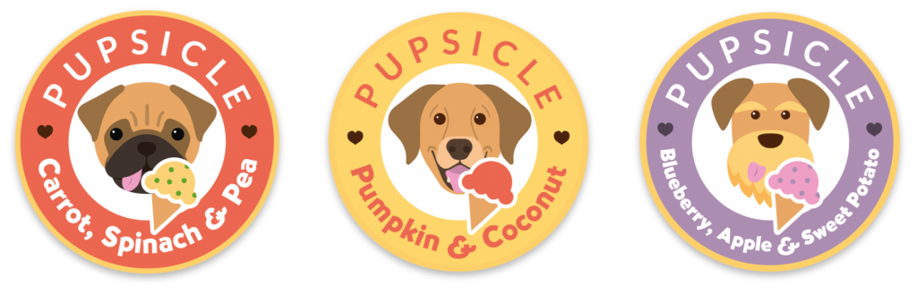 Pupsicle ice cream products